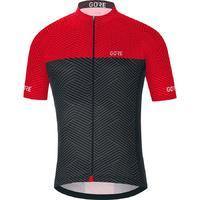 GORE C3 Optiline Jersey-graphite grey/red-L