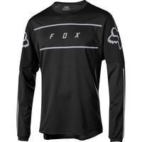 FOX Volný dres Flexair LS Fine Line Jersey - Black - M