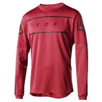 FOX Volný dres Flexair LS Fine Line Jersey - Cardinal - L