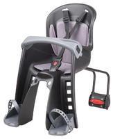 POLISPORT - Dětská sedačka Bilby Junior přední (zadní uchycení) - Černo-tmavě šedá