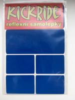 KICKRIDE Reflexní samolepka - modrá