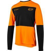 FOX Volný dres Defend Delta LS Jersey - Atomic Orange - L