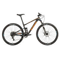 KONA Hei Hei Race Deluxe (Carbon) 2017 - Matte Carbon/Orange - L