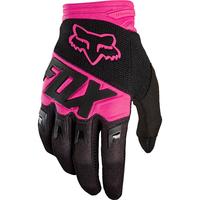 FOX Dirtpaw Race Glove černé/růžové