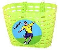 NN - Koš přední na dětské kolo Zelený Fotbal