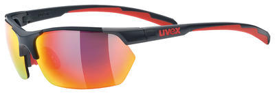 UVEX Brýle Sportstyle 114 Grey red mat/Mirror Red S3 + Orange S1 + Clear S0 (5316)
