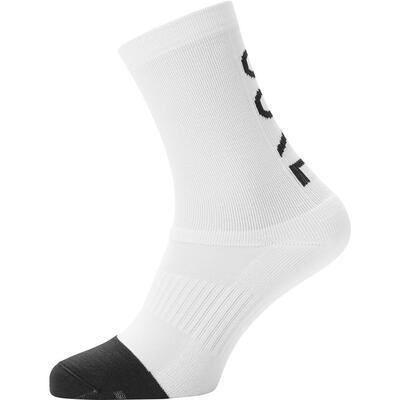 GORE M Mid Brand Socks-white/black-38/40