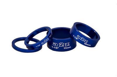 """a2z - Distanční podložky 1-1/8"""" 3+5+8+10mm - modré"""
