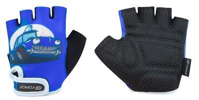 FORCE - Rukavice dětské KID modré-auto