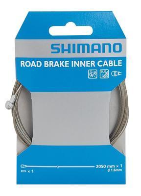 SHIMANO Brzdové silniční lanko DA7800 2,05m x 1,6 mm nerez