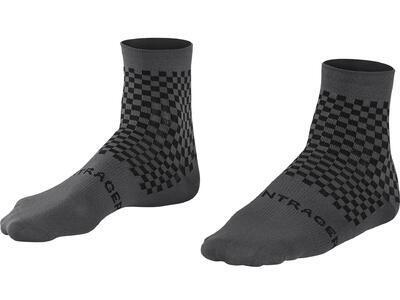 BONTRAGER Ponožky Race Quarter Radioactive šedo/černé S (37-39)