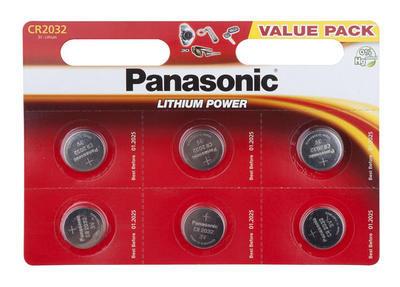 PANASONIC  Baterie lithium knoflíková 3V - CR 2032 - 1ks