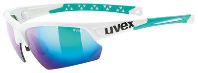 UVEX Brýle Sportstyle 224 White-Green/Mirror Green S3 (7816)