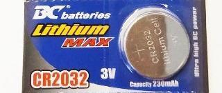 BC BATTERIES - Baterie lithium knoflíková 3V - CR 2032 - 1ks