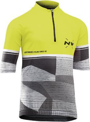 NW Origin Junior Jersey YellowFluo/Grey - 1
