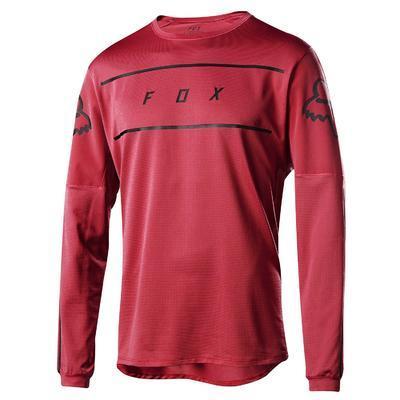 FOX Volný dres Flexair LS Fine Line Jersey - Cardinal - L - 1