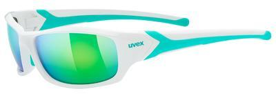 UVEX Brýle Sportstyle 211 White green/Mirror Green S3 (8716)