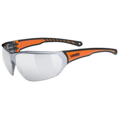 UVEX Brýle Sportstyle 204 Black - Orange/Mirror Silver S3 (2316)