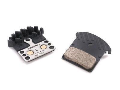 SHIMANO - Destičky brzdové SH L04C metalické s pružinou+chladič
