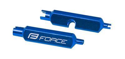 FORCE - klíč na vložky AV/FV ventilků, hliník, modrý