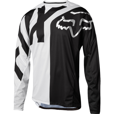 FOX Volný dres Demo LS Preme bílý/černý - 1