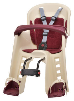POLISPORT - Dětská sedačka Bilby Junior přední (přední uchycení) - Krémovo-vínová