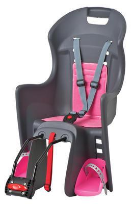 POLISPORT - Dětská sedačka Boodie - Šedo - růžová - 1