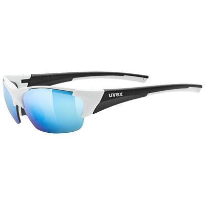 UVEX Brýle Blaze III White-Black Mat/Mirror Blue S3 + Orange S1 + Clear S0 (8816)