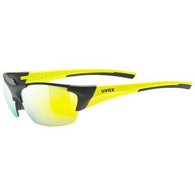 UVEX Brýle Blaze III Black mat - Yellow/Mirror Yellow S3 + Orange S1 + Clear S0 (2616)