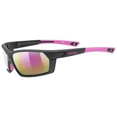 UVEX Brýle Sportstyle 225 Black Pink mat/Mirror Pink S3 (1316)