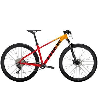 TREK Marlin 7 2021 - Marigold to Radioactive Red Fade