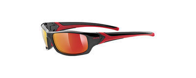 UVEX Brýle Sportstyle 211 Black-Red/Mirror Red S3 (2213)