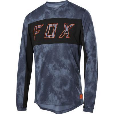 FOX Volný dres Ranger Dri-Elevated LS Jersey - Blue Steel - 1