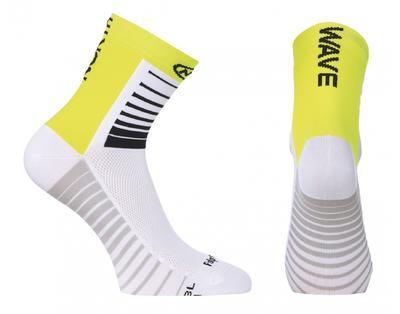 NW Ponožky Sonic Socks White/Yellow Fluo
