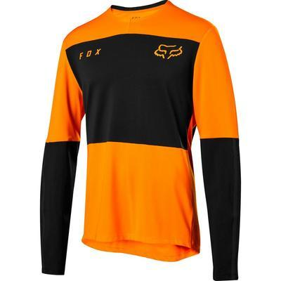 FOX Volný dres Defend Delta LS Jersey - Atomic Orange - L - 1
