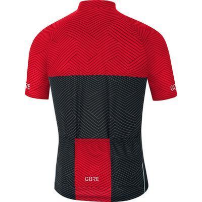 GORE C3 Optiline Jersey-graphite grey/red-L - 2