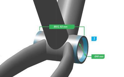 SRAM Středová osa DUB PressFit (MTB) 89/92mm - 2