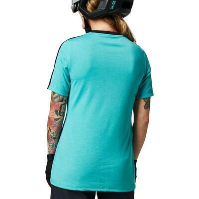 FOX Dámský volný dres Ranger Dri-Release SS Jersey -Teal - XS, XS - 2