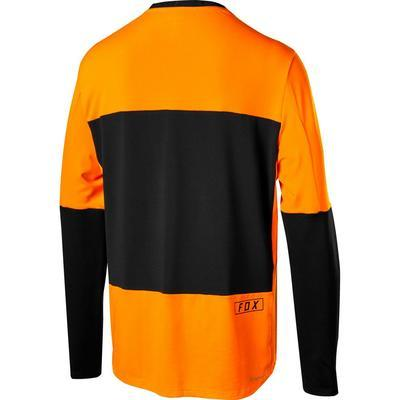 FOX Volný dres Defend Delta LS Jersey - Atomic Orange - L - 2