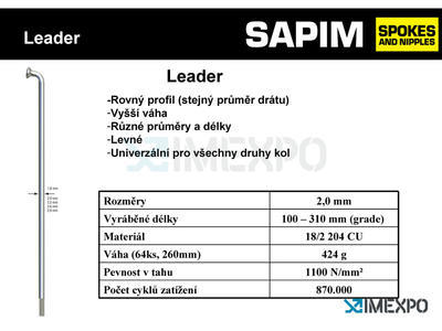 SAPIM Leader paprsek (drát) černý 296 - 2