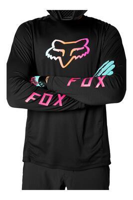 FOX Volný dres Defend LS Jersey - Black - L, L - 4