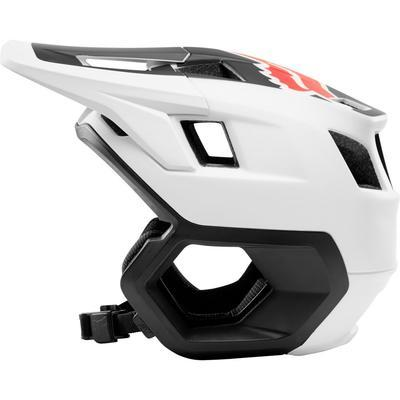 FOX DropFrame Helmet White/Black - M - 5