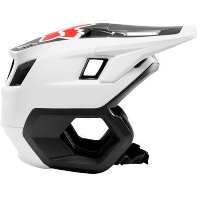 FOX DropFrame Helmet White/Black - M - 6